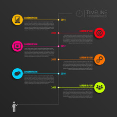Timeline infographic elements. Vector with icons
