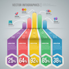 Vector abstract infographic design. Workflow layout template