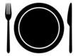 Messer Gabel und Teller - 71026189