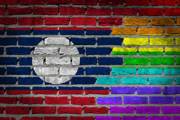 Dark brick wall - LGBT rights - Laos
