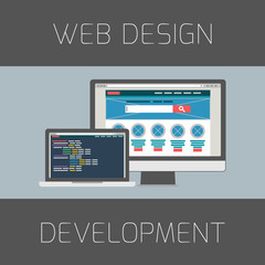 Concept for web design and development