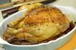 poulet rôti dans un plat