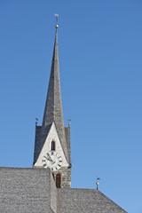 mountain church in winter