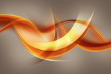 Fototapety abstract orange wave