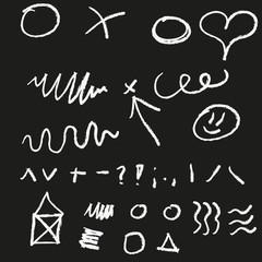 Doodle elements set