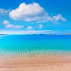 Playa Paraiso beach in Manga Mar Menor Murcia