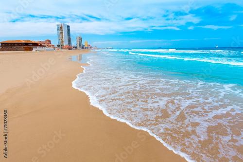 La Manga del Mar Menor beach in Murcia Spain - 71028360