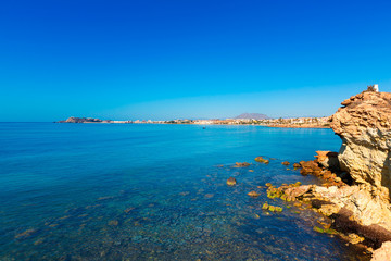 Mazarron beach in Murcia Spain at Mediterranean