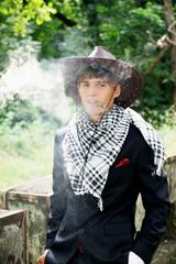 cowboy with cigar