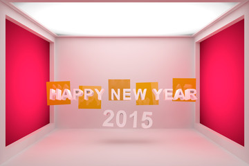 Happy New Year 2015 3D Text