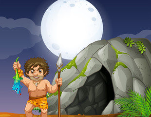Cave and caveman