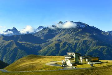 Grossglockner high alpine road in Austria. Hohe Tauern, Austria