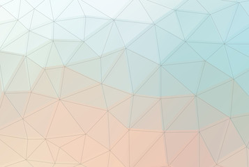 Shades of pastels polygon background