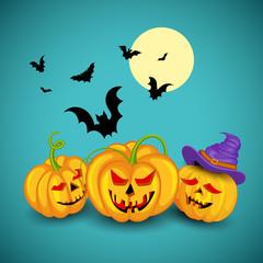 Jack o lantern pumpkin for Halloween night