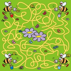 labyrinth - bees and navigation