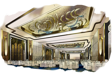 sketch design hotel,interior design,hotel,Ballroom