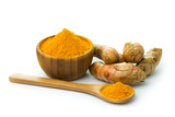 Turmeric and turmeric powder poster