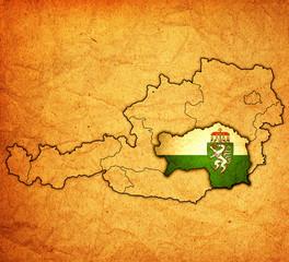 styria on map of austria