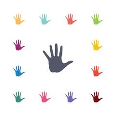 hand flat icons set.