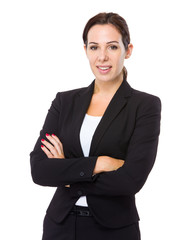 Businesswoman cross arm