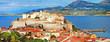 Leinwanddruck Bild - panoramic view of Calvi , Corsica