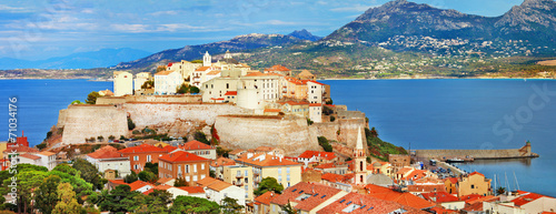 Papiers peints Pays d Europe panoramic view of Calvi , Corsica