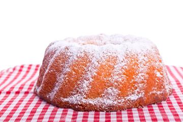 traditional sweet bundt cake with powder sugar