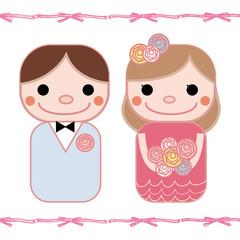 結婚式お色直しドレス リボン背景