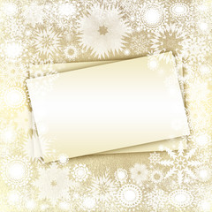 Christmas sheet of paper , snowflakes background