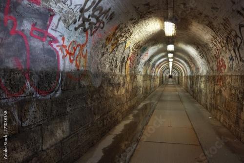 Spoed canvasdoek 2cm dik Tunnel Tunnel
