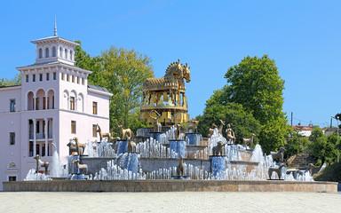 Colchian Fountain on the central square of Kutaisi, Georgia