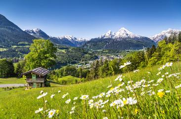 Idyllic landscape in Bavarian Alps, Berchtesgaden, Germany