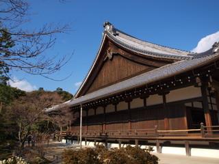 Tenryu-ji temple with Blue sky in Arashiyama, Kyoto, Japan.