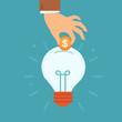 Vector idea attracting money concept