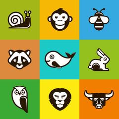 Vector abstract logo symbols