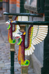 Railings with griffins