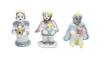 Handmade ceramic Nativity scene - Three Wise men