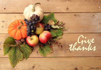 Autumn and Thanksgiving concept