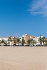 Calella city , Spain.