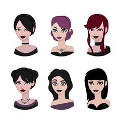 Gothic avatar set