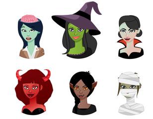 Halloween woman avatar
