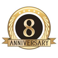 Eight Year Anniversary Badge