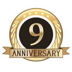 Nine Year Anniversary Badge
