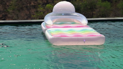 float, mattress, swimming, pool, concept, chair, no one, comfort