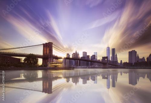 Zdjęcia na płótnie, fototapety, obrazy : Brooklyn bridge sunset