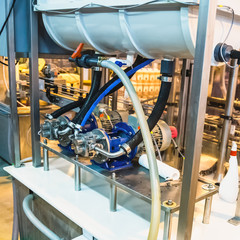 Engine equipment on factory
