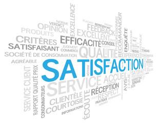 """Nuage de Tags """"SATISFACTION"""" (service client qualité garantie)"""