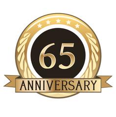 Sixty Five Year Anniversary Badge