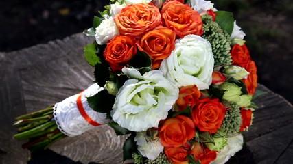 Wedding bouquet of fresh flowers.
