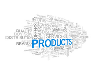 """""""PRODUCTS"""" Tag Cloud (catalogue search prices services info faq)"""